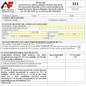 Formularul  311 - Declaratie privind taxa pe valoarea adaugata colectata, datorata de catre persoanele impozabile al caror cod de inregistrare in scopuri de taxa pe valoarea adaugata a fost anulat