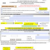 Modificarea formularului 112 pentru anul 2014