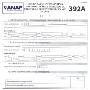 Depunerea declaratiilor informative 392A si 392B