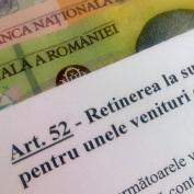 Noi reglementari privind retinerea la sursa a impozitului pe venit in anul 2012